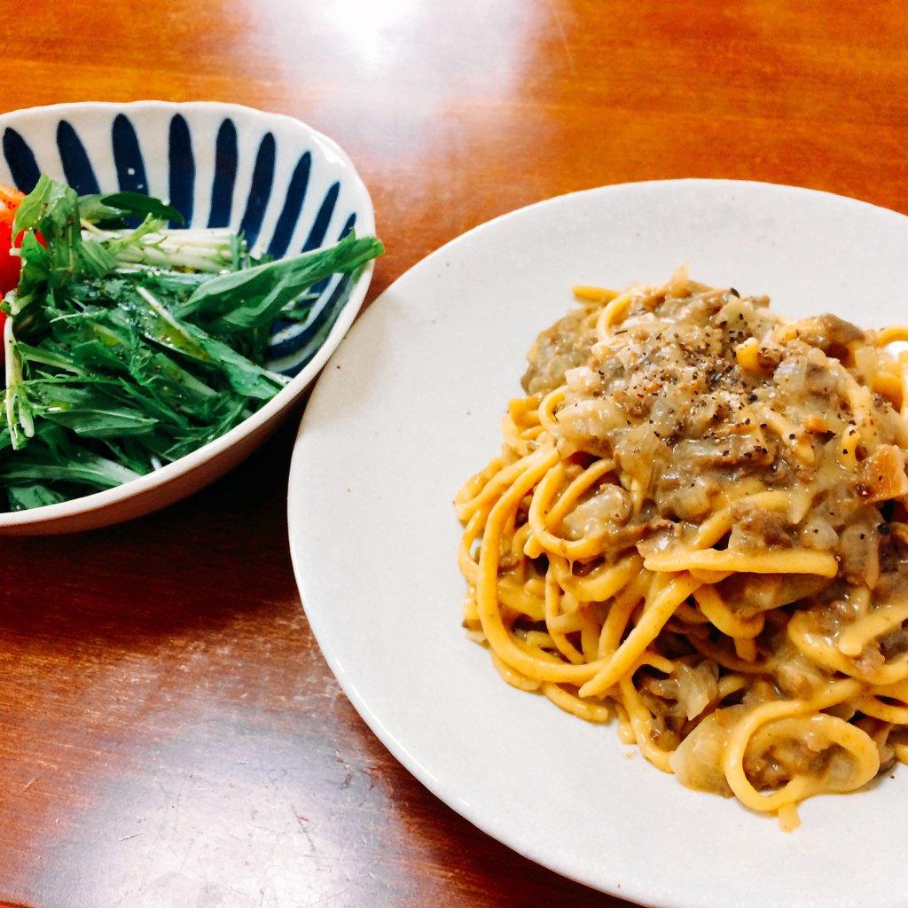 イタリア土産の乾燥ポルチーニを使った生パスタ