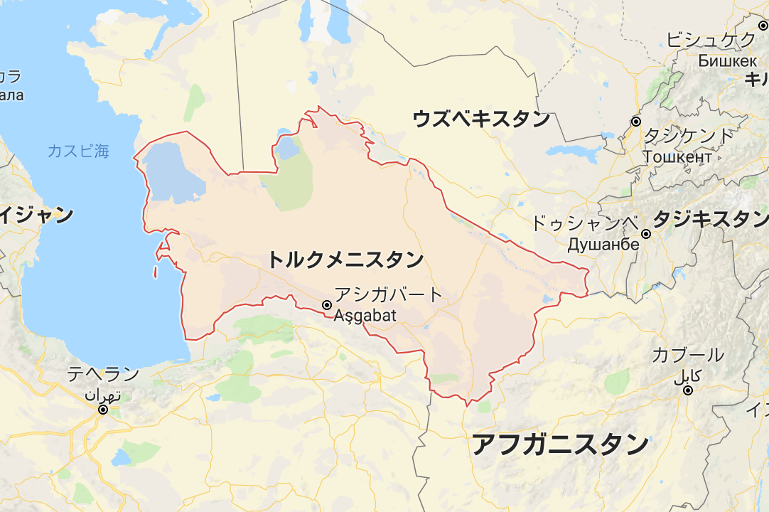 トルクメニスタンの位置