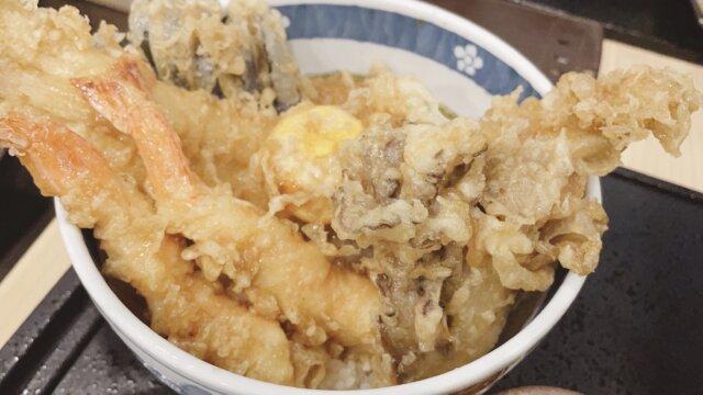 【和食・天ぷらのさくさく】たまには昼間に天丼がっつりいってもおーらい!